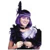 Boa Glitter Feather Black
